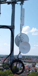 Mast mit Antennen, Kreishaus Paderborn